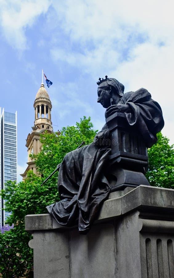 Queen Victoria Statue, Sydney, NSW, Australia stock image