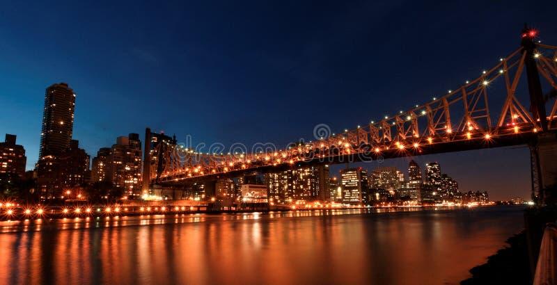 Queens bridge, New York stock photography