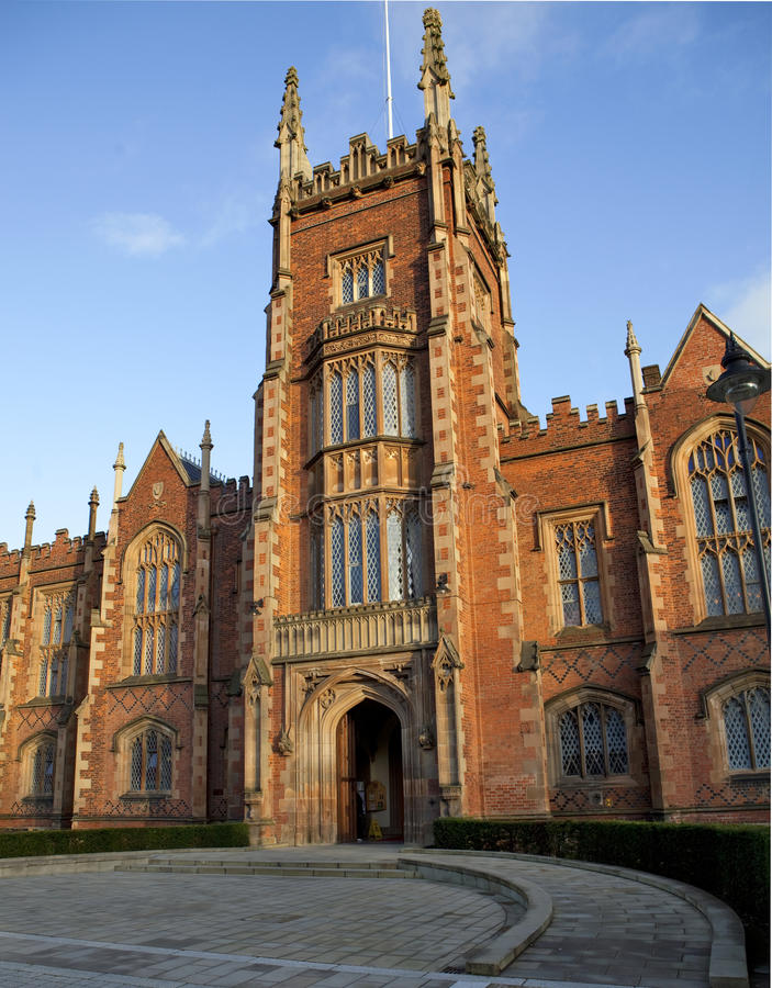 Download Queens University Belfast Front Entrance Stock Image - Image of stately, grass: 11981251