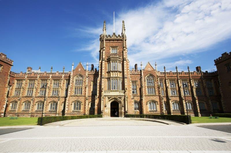 Queens University, Belfast, Northern Ireland. Part of the main building at Queens University, Belfast, Northern Ireland royalty free stock images