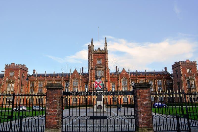 Queens uniwersytet Belfast obrazy stock