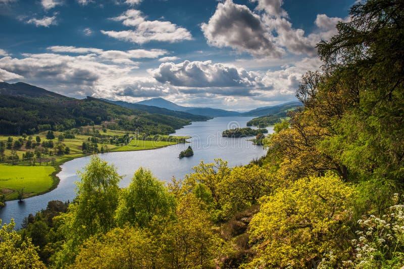 Queens widok, Loch Tummel obrazy stock