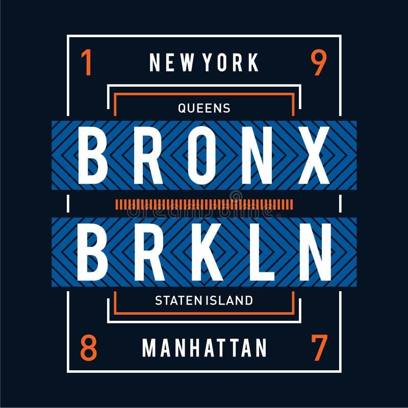 Queens York typografii nowy projekt dla t koszula ilustracja wektor