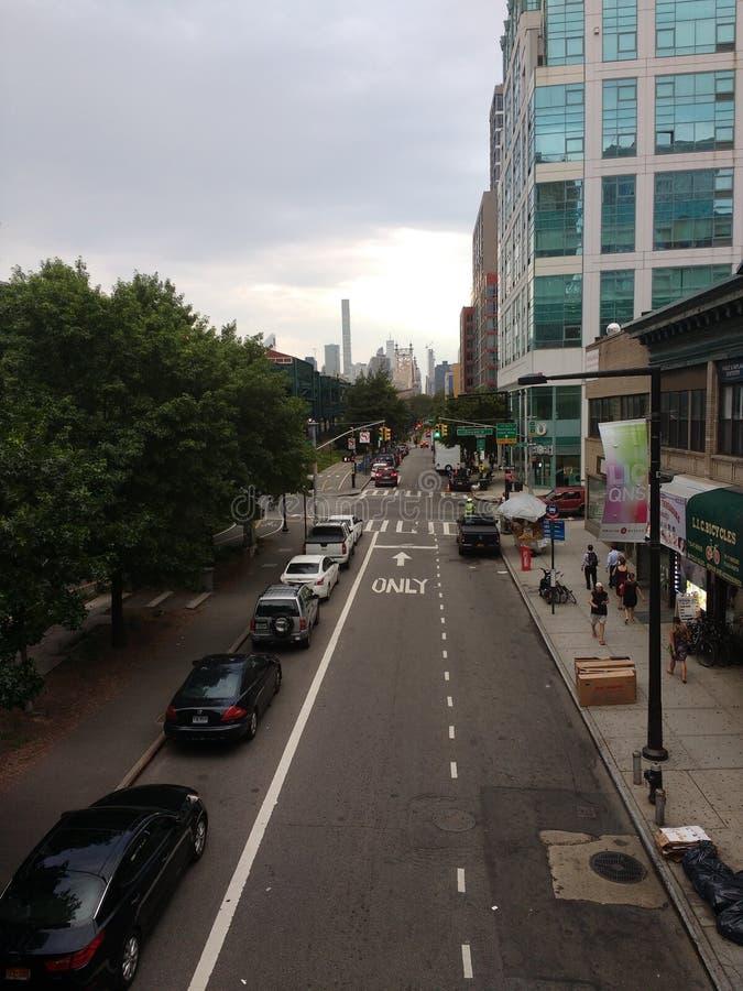 Queensboro广场地铁站, NYC, NY,美国 库存图片