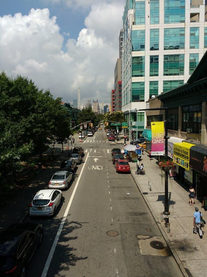 Queensboro广场地铁站, NYC, NY,美国 免版税图库摄影
