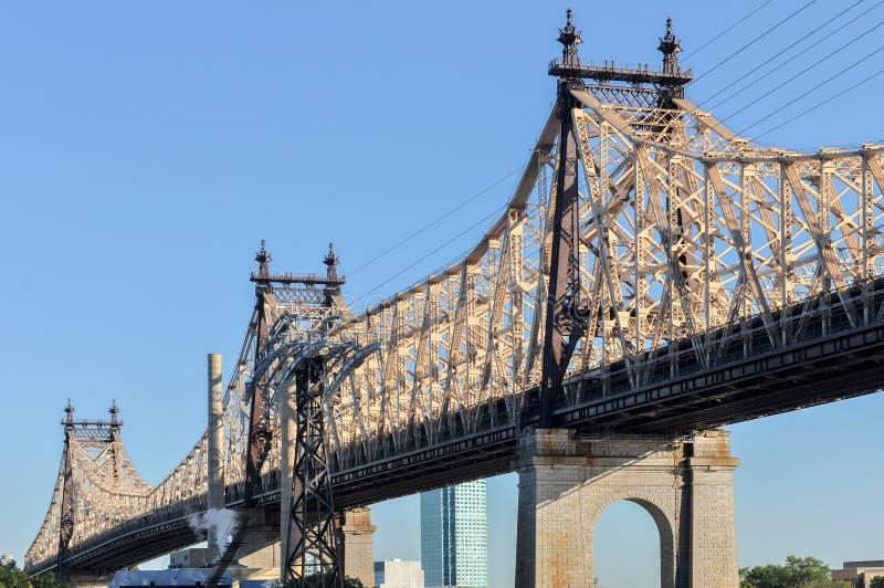 Queensboro & x28; 爱德Koch& x29;从曼哈顿的桥梁 库存照片