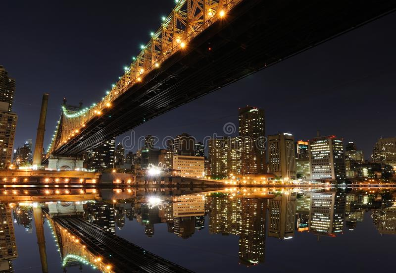 Queensboro Bridge in New York City stock photo