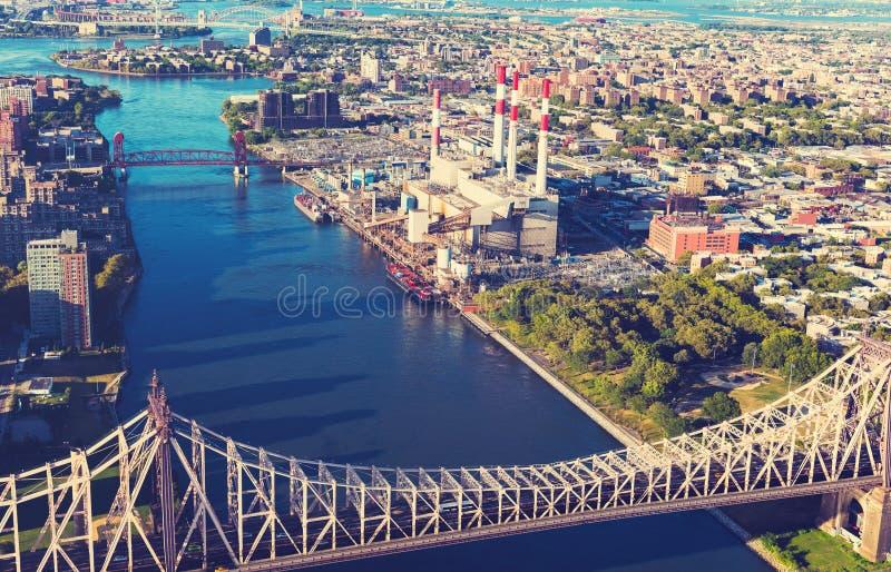 Queensboro most nad Wschodnią rzeką w Miasto Nowy Jork fotografia royalty free