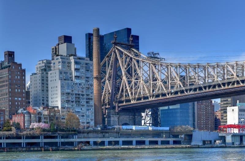 Queensborobrug - de Stad van New York royalty-vrije stock foto