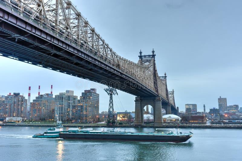 Queensborobrug van Manhattan, NY royalty-vrije stock foto