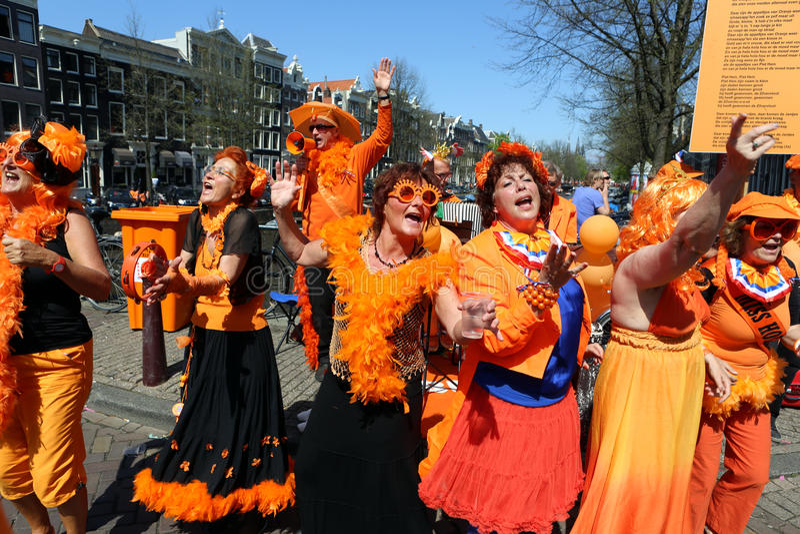 Queensday à Amsterdam photographie stock libre de droits