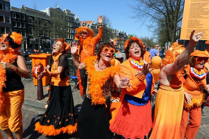 Queensday in Amsterdam royalty-vrije stock fotografie