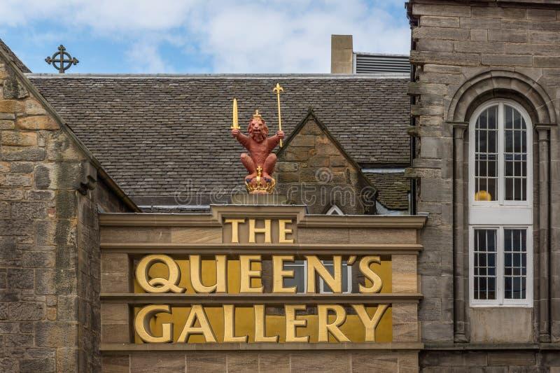 Queensgalleriframdelen i Edinburg, Skottland, UK royaltyfria bilder