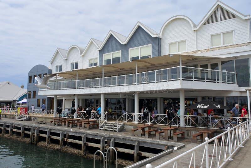 Queenshamnplats i Newcastle New South Wales Australien arkivfoto