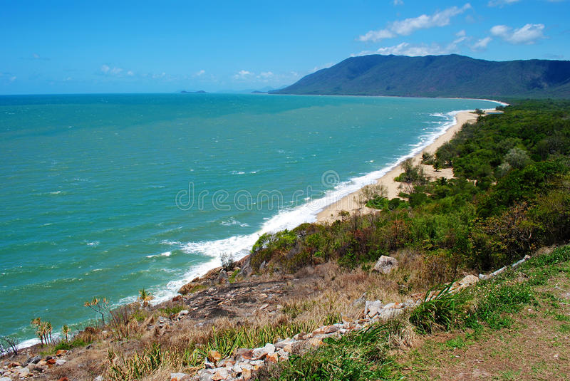 Queensland Coast. A view of Queensland coast, Australia royalty free stock images