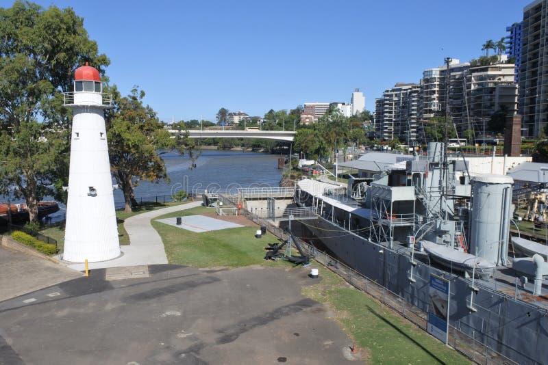 Queensland maritimt museum i Brisbane royaltyfri fotografi