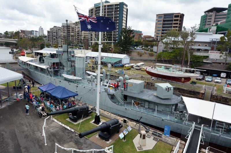 Queensland maritimt museum i Brisbane fotografering för bildbyråer