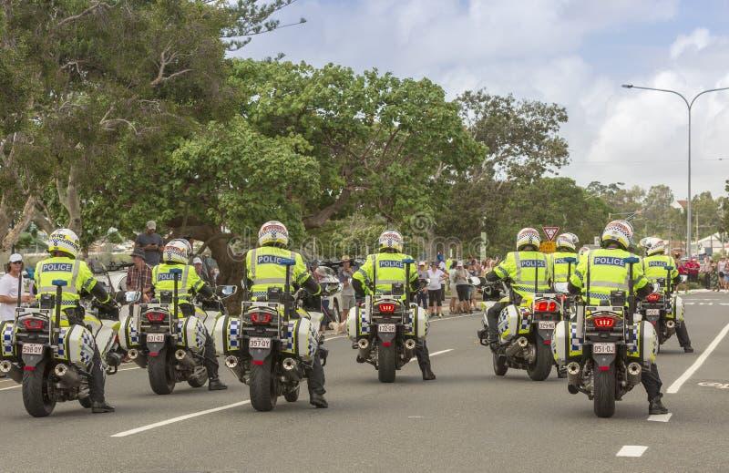Queensland Police Patrolling Beach In 4wheel Drive Editorial Stock