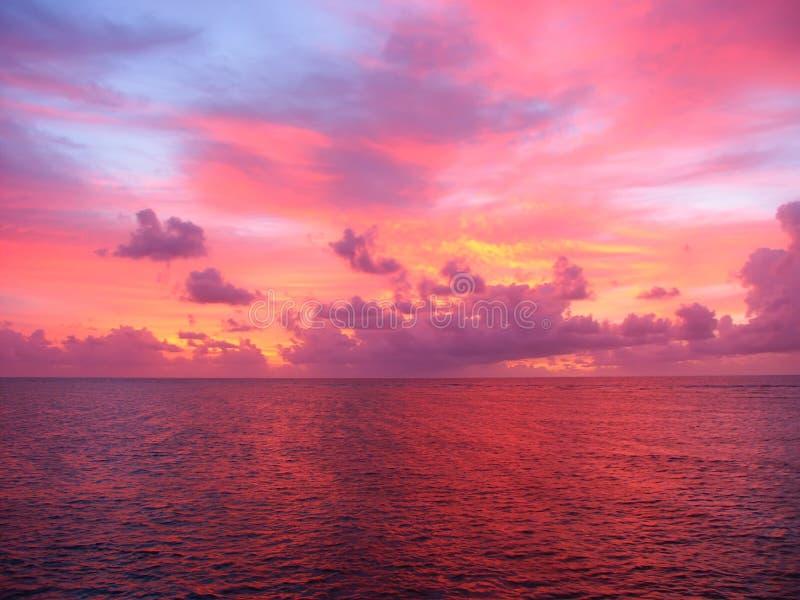 queensland solnedgång arkivfoto