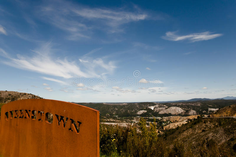 Queenstown - Тасмания стоковое изображение