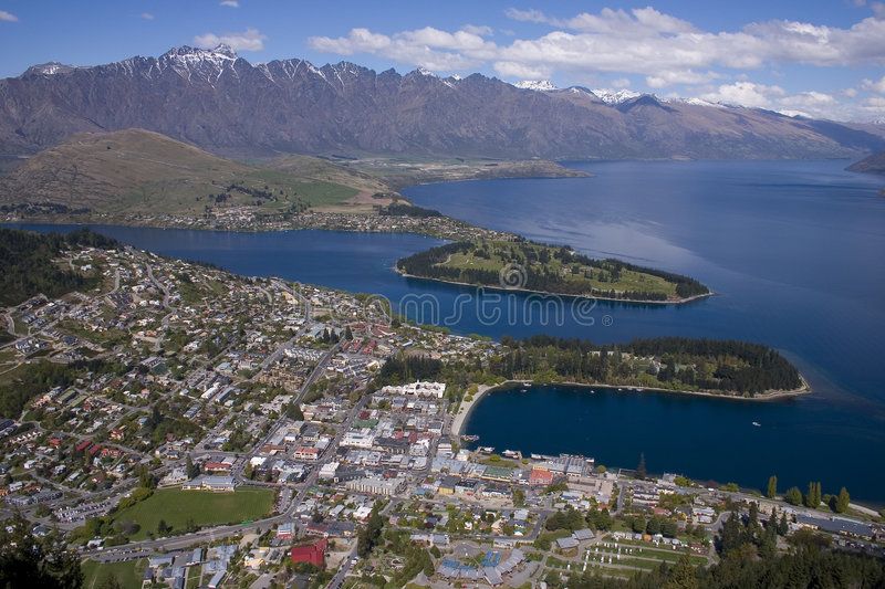 Queenstown. South island New-Zealand stock images