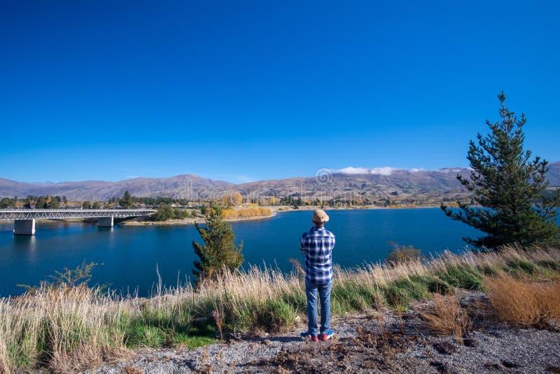 Queenstown i Remarkables góry, Nowa Zelandia zdjęcie stock