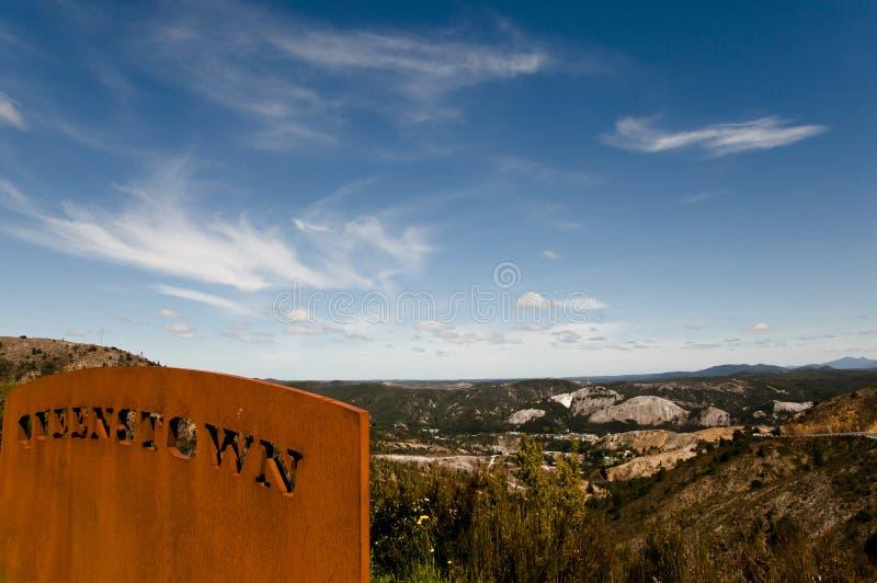 Queenstown - la Tasmanie image stock