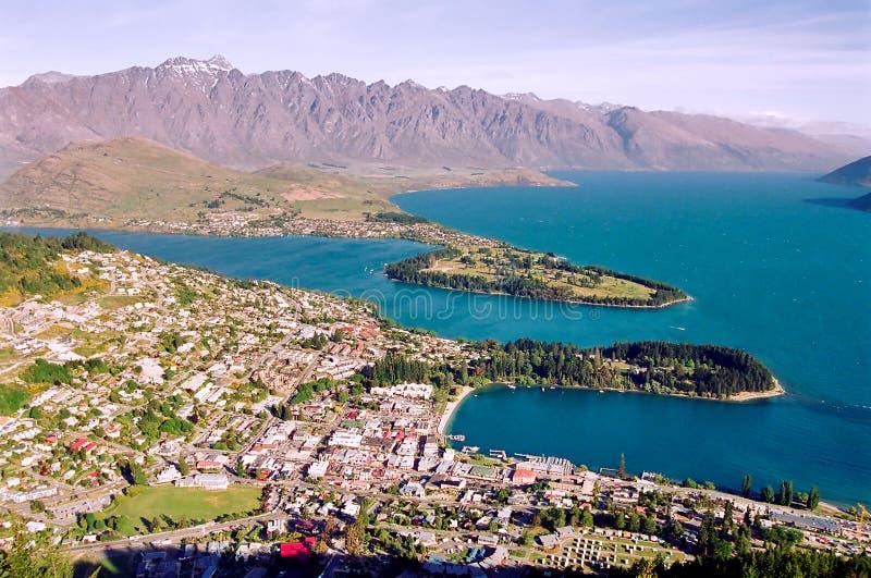 Queenstown, Neuseeland stockbilder