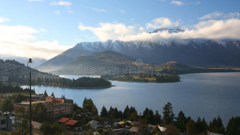Download Queenstown, New Zealand. stock image. Image of cloud - 11882547