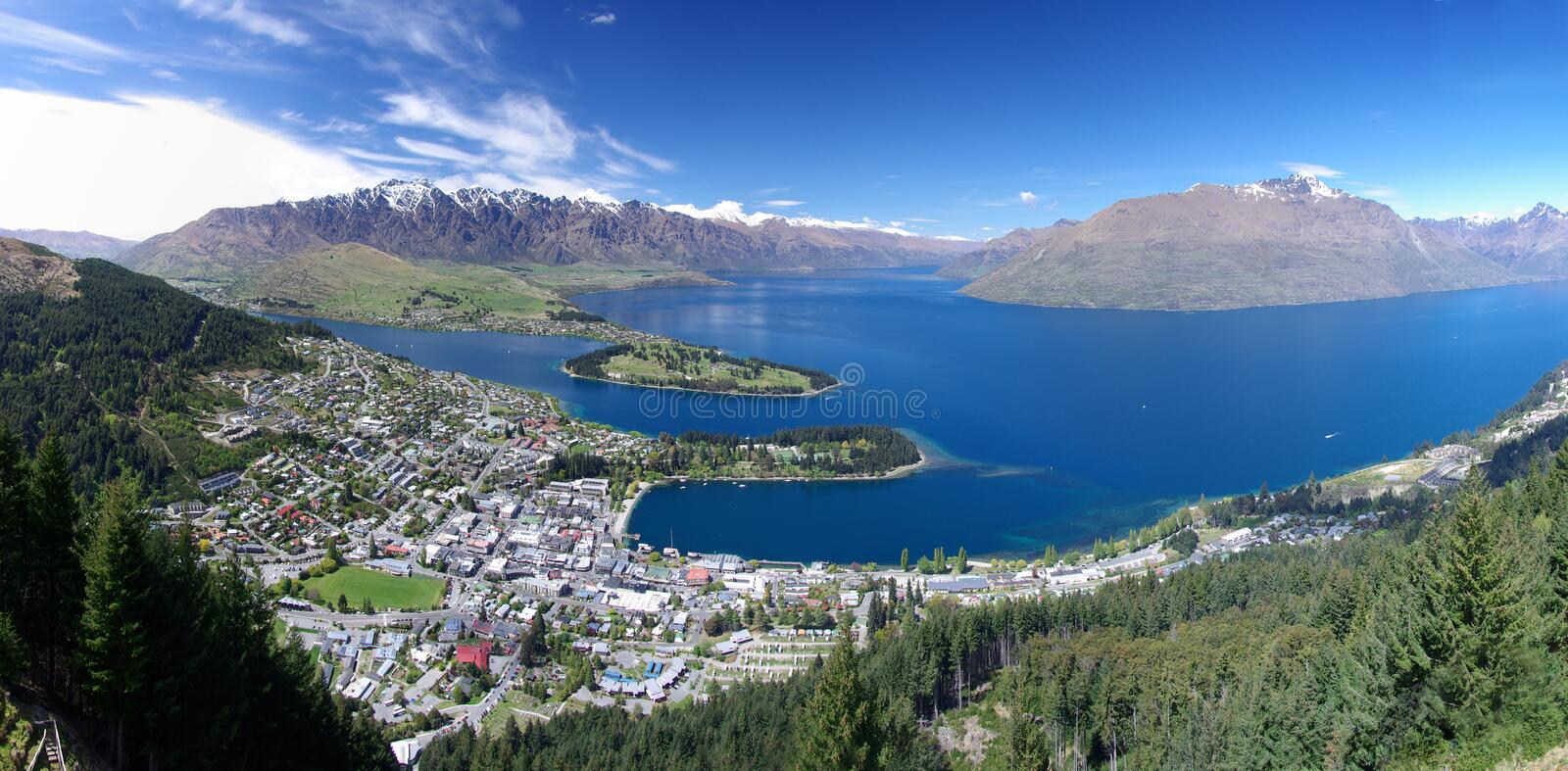 Queenstown in New Zealand royalty free stock photos
