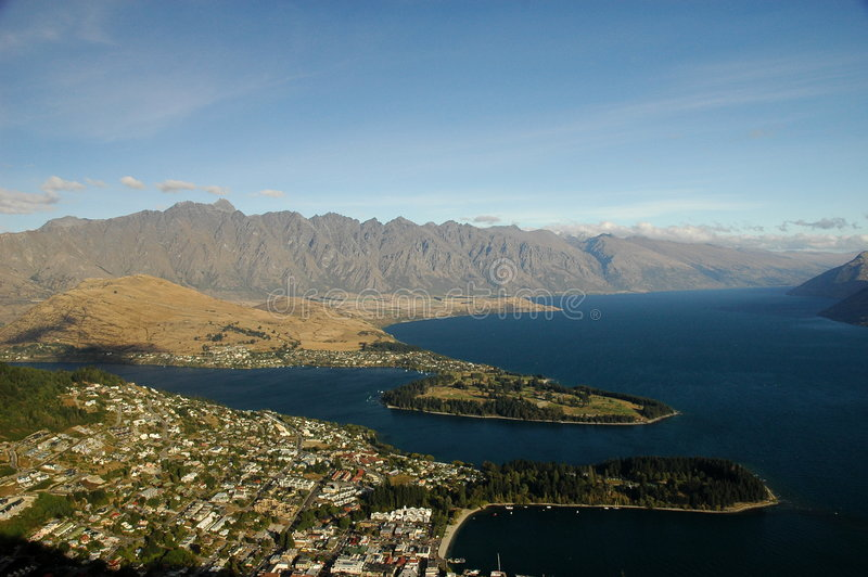 Queenstown, New Zealand royalty free stock image