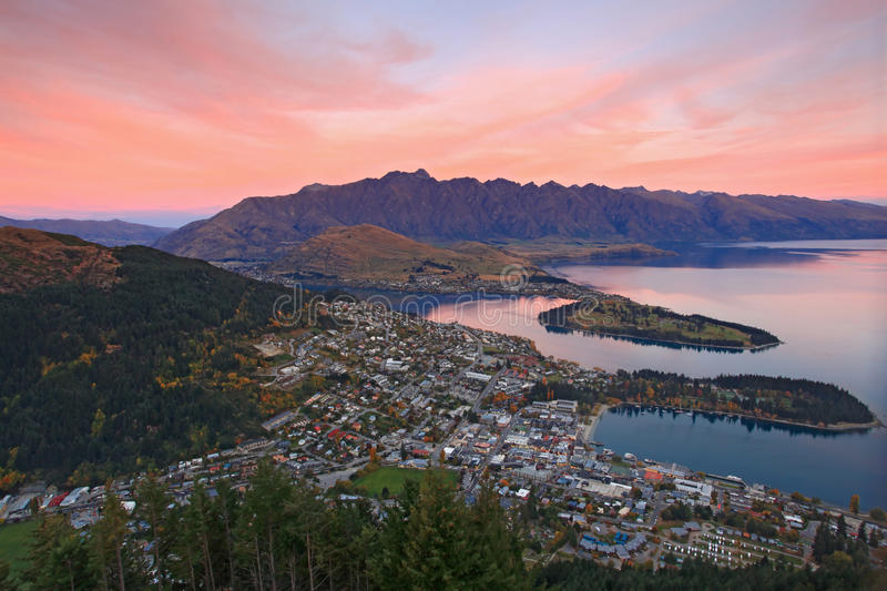 Queenstown Nova Zelândia foto de stock