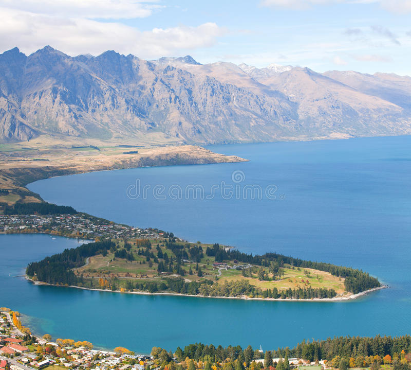 Queenstown Nova Zelândia imagem de stock royalty free