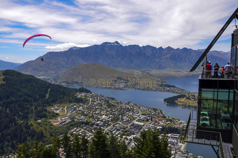 Download Queenstown parapenting editorial image. Image of zealand - 28415750