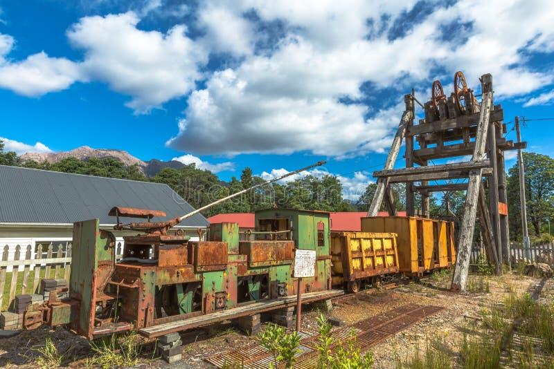 Queenstown Tasmania: artefactos históricos foto de archivo