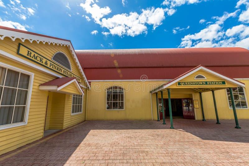 Queenstown Tasmanie : Gare ferroviaire image stock
