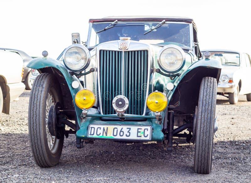 Queenstown, Zuid-Afrika, 17 Juni 2017: Uitstekende klassieke vehic van MG stock afbeelding