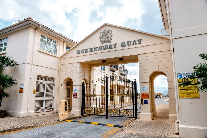 Queensway Quay Marina, Gibraltar zdjęcie royalty free