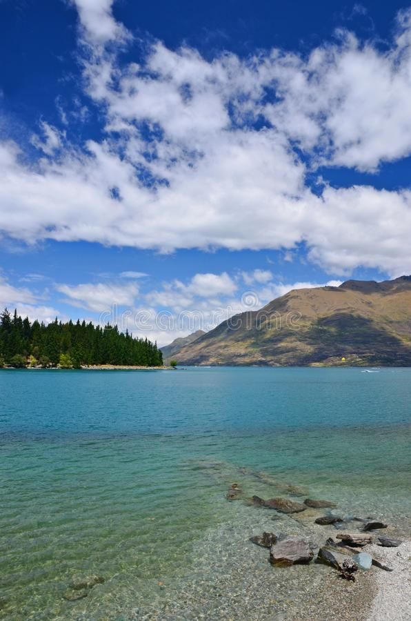 Queentown Lake Wakatipu New Zealand stock images
