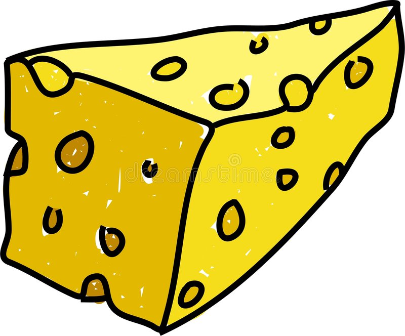 Queijo de queijo Cheddar ilustração stock