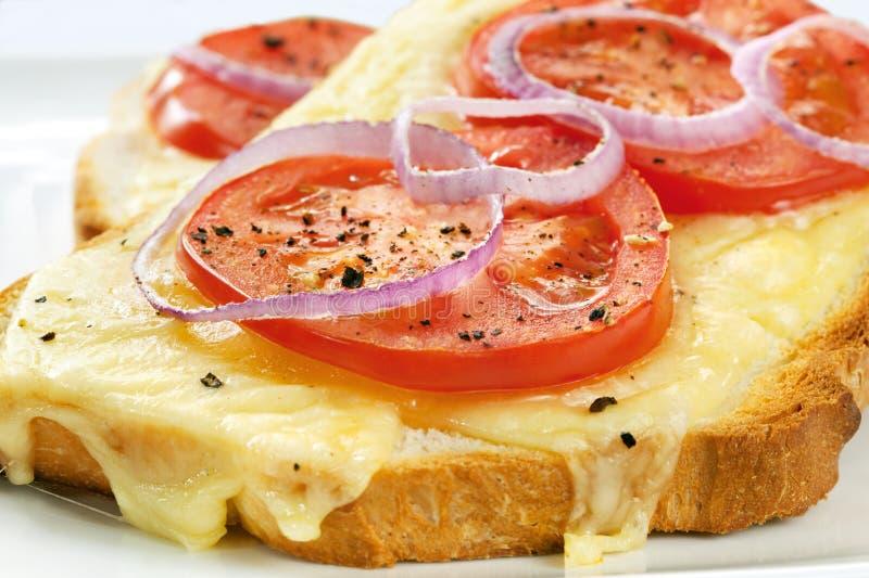 Queijo e tomate grelhados fotos de stock royalty free