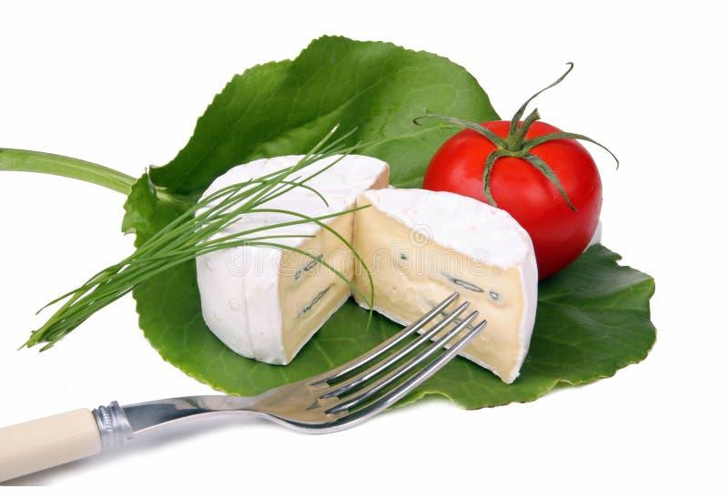Queijo macio e tomate   foto de stock royalty free