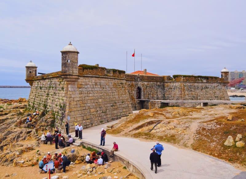 Queijokasteel in Porto royalty-vrije stock afbeelding