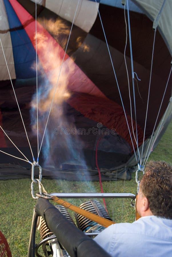 Queimador do funcionamento do Balloonist fotografia de stock