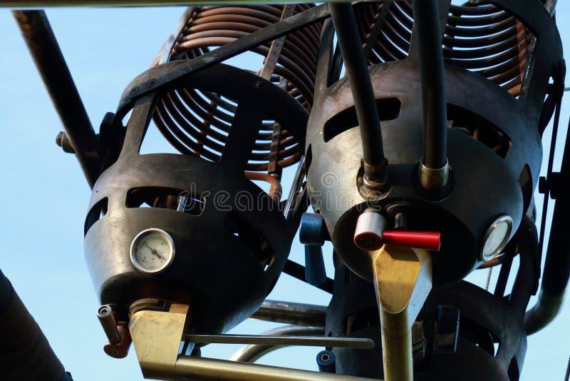 Queimadores de um balão de ar quente imagem de stock