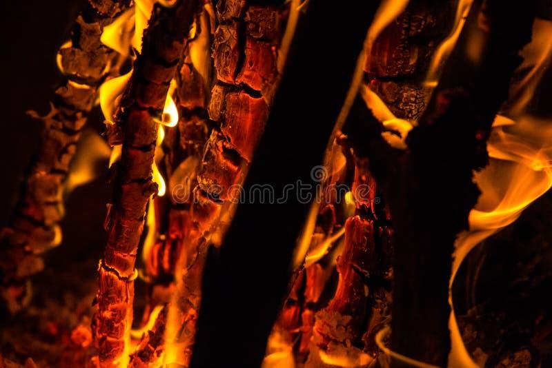 Queimadura profunda de madeira fotografia de stock