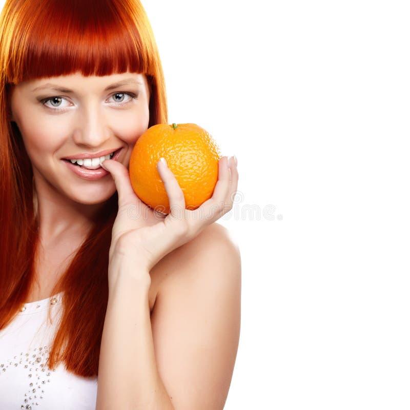 Queira à laranja? foto de stock