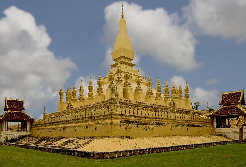 Quel Luang, tempiale nel Laos immagini stock