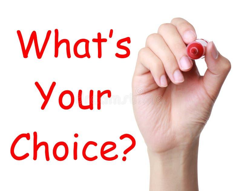 Quel s votre choix ? image libre de droits
