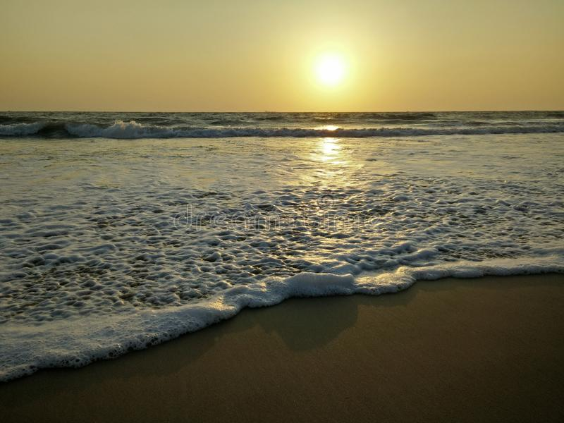 Quel tramonto fotografia stock